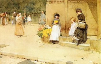 The Flower Seller | Frederick Childe Hassam | oil painting