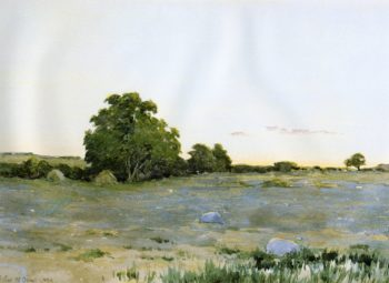 Water Meadows at Sunset 1890 | Arthur Wesley Dow | oil painting