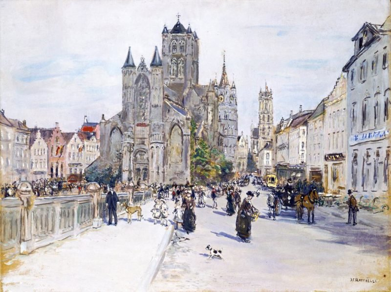 View of Ghent | Jean Francois Raffaelli | oil painting