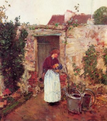 The Garden Door | Frederick Childe Hassam | oil painting