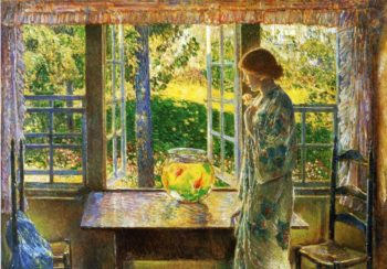 The Goldfish Window | Frederick Childe Hassam | oil painting