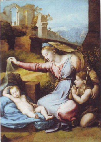 Madonna Of The Diadem | Attributed To Givonni Francesco Penni | oil painting