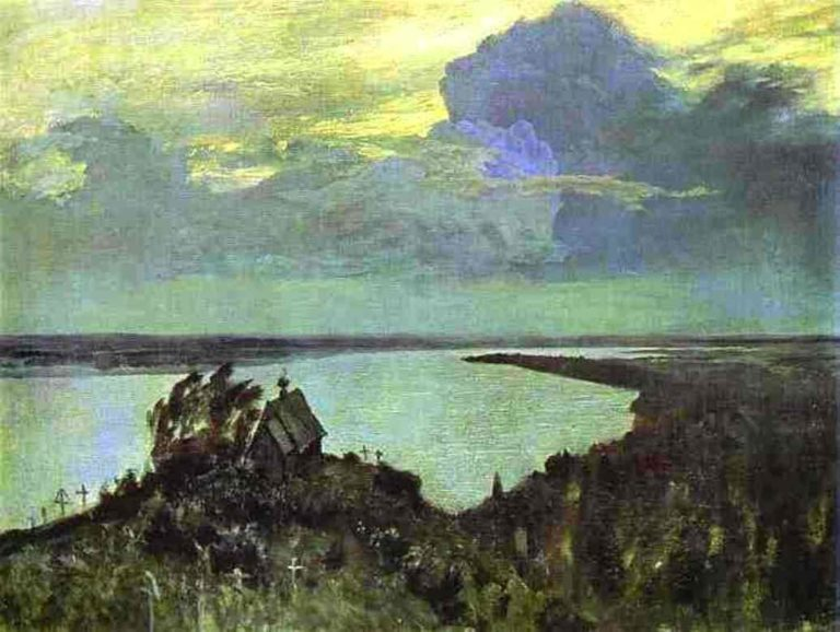 Above the Eternal Peace Study 1894 | Isaac Ilich Levitan | oil painting
