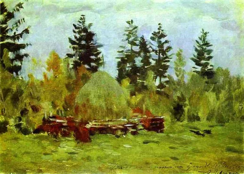 A Haystack Study 1894   Isaac Ilich Levitan   oil painting