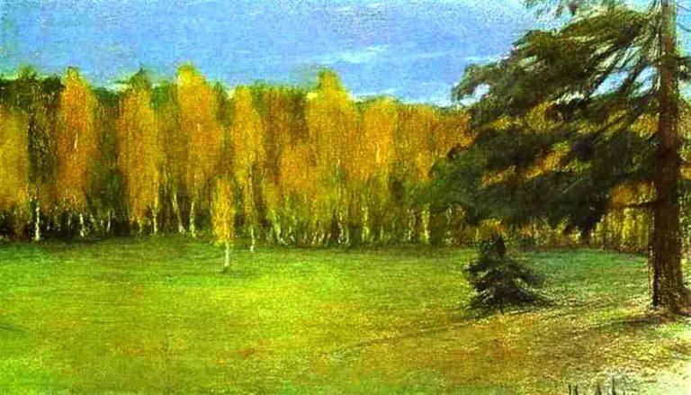 Autumn Landscape 1890 1899   Isaac Ilich Levitan   oil painting