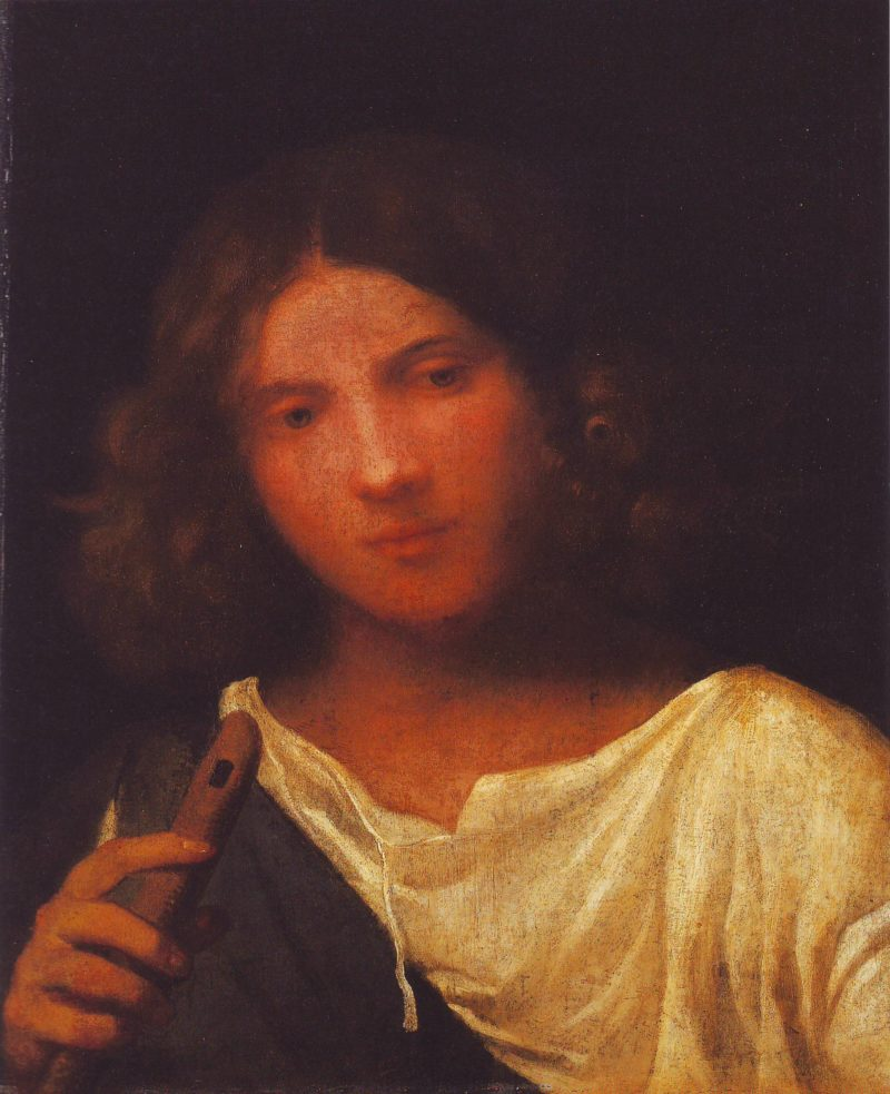 Boy With A Pipe | Attributed To Titian | oil painting