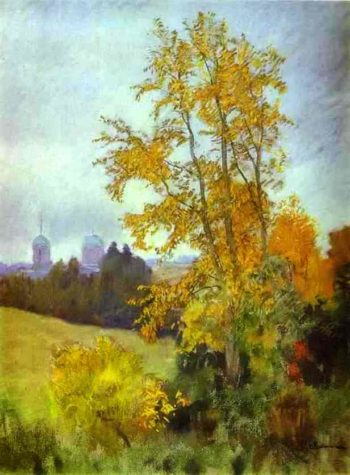 Autumn Landscape with a Church 1890 1899 | Isaac Ilich Levitan | oil painting
