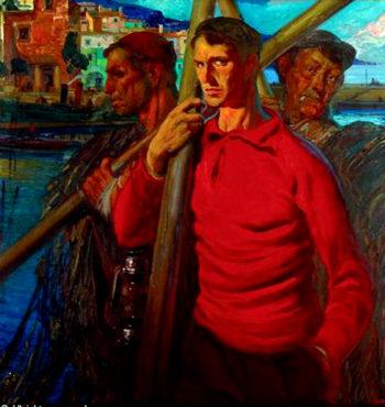 ombres Pescadores | Jose Bardasano Baos | oil painting