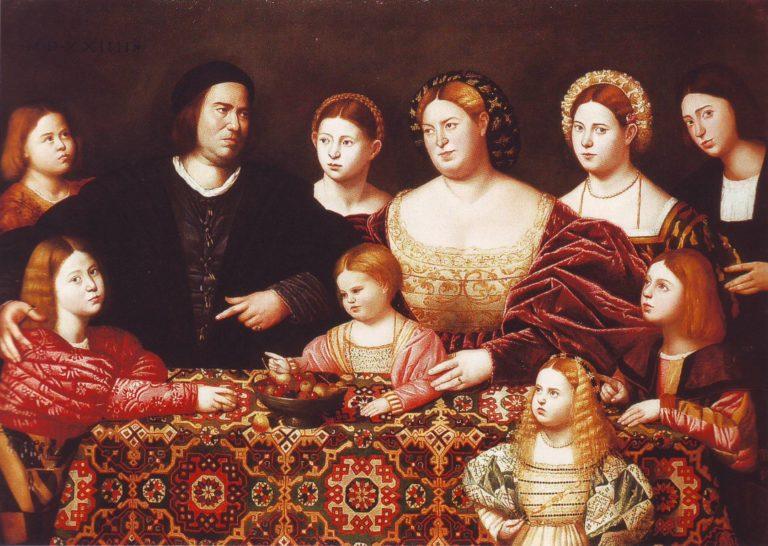 A Family Group   Bernardino Liginio   oil painting