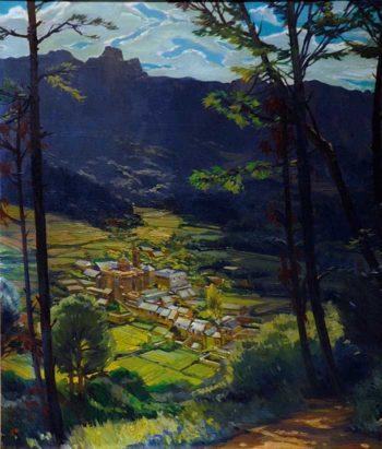 Paisaje 1 | Jose Bardasano Baos | oil painting
