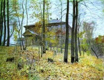 Autumn The Manor 1894 | Isaac Ilich Levitan | oil painting