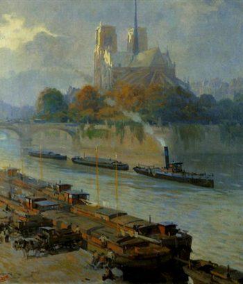 Paris (El sena) | Jose Bardasano Baos | oil painting