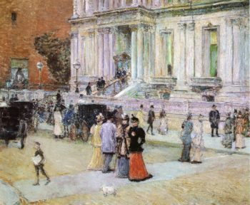 The Manhattan Club | Frederick Childe Hassam | oil painting