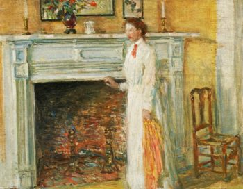 The Mantle Piece | Frederick Childe Hassam | oil painting