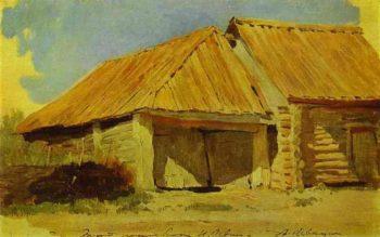 Barns Study 1885 | Isaac Ilich Levitan | oil painting