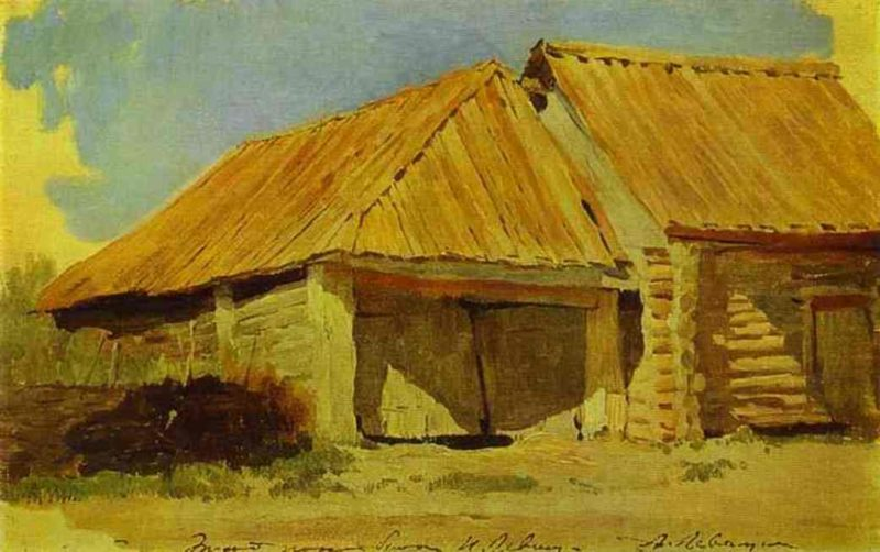 Barns Study 1885 | Isaac Ilich Levitan | oil painting