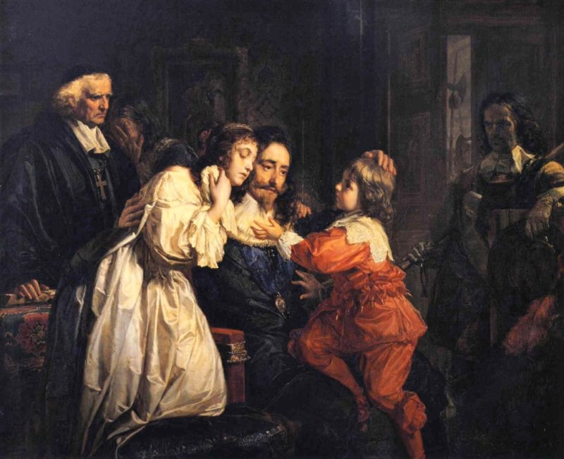 Charles I Says Farewell to his Family | Julius Schrader | oil painting