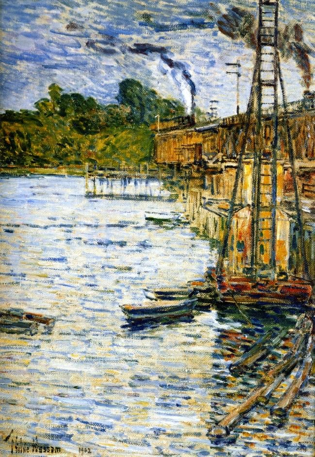 The Mill Pond   Frederick Childe Hassam   oil painting