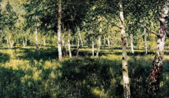 Birch grove 1889 | Isaac Ilich Levitan | oil painting
