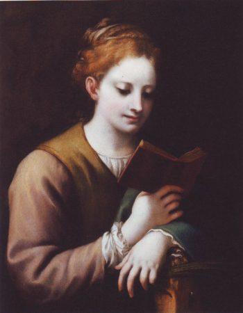 ST Catherine Reading | Correggio | oil painting