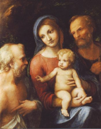 The Holy Family With ST Jerome | Correggio | oil painting