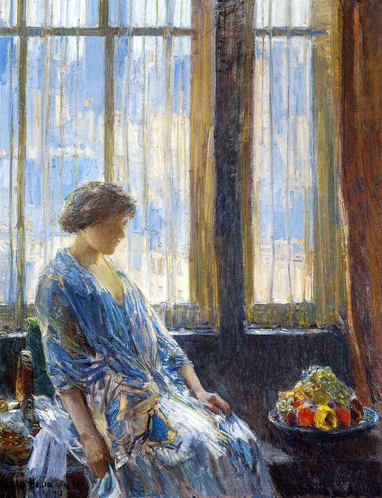 The New York Window | Frederick Childe Hassam | oil painting