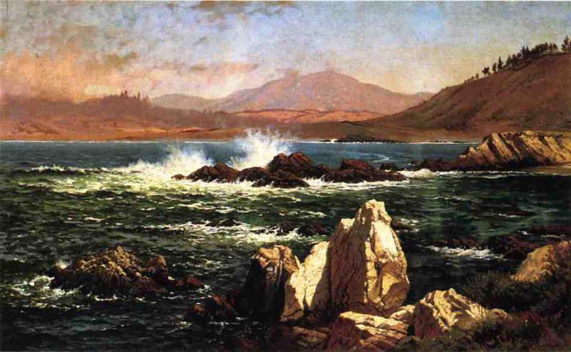 Half Moon Bay   Raymond Dabb Yelland   oil painting