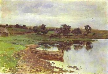 By the Riverside Study 1885 | Isaac Ilich Levitan | oil painting