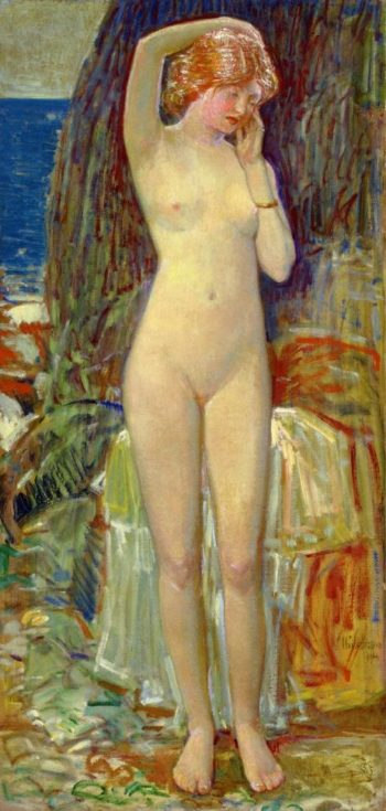 The Nymph of Beryl Gorge | Frederick Childe Hassam | oil painting