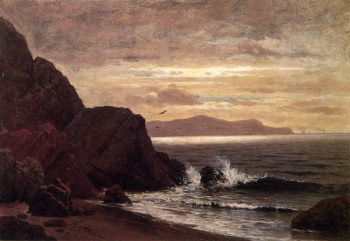 Point Lobos from Fort Pointt | Raymond Dabb Yelland | oil painting