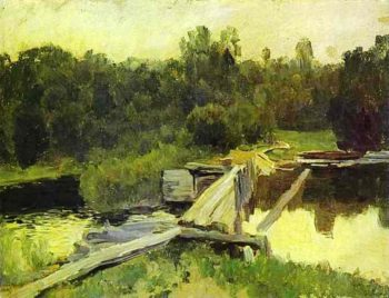 By the whirlpool Study 1892 | Isaac Ilich Levitan | oil painting