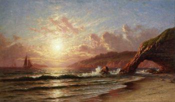 Sunset | Raymond Dabb Yelland | oil painting