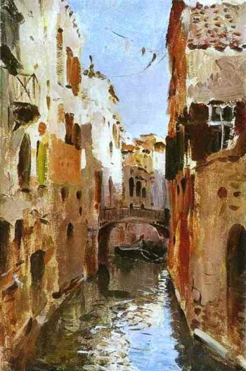 Canal in Venice Sketch 1890 | Isaac Ilich Levitan | oil painting