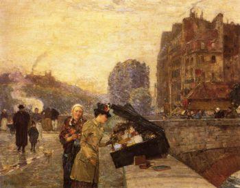 The Quai St. Michel | Frederick Childe Hassam | oil painting