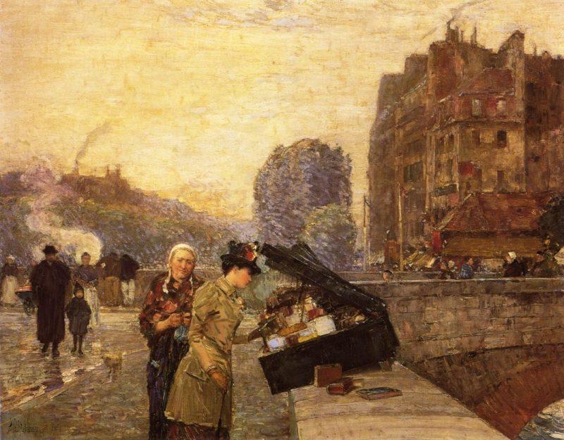 The Quai St. Michel   Frederick Childe Hassam   oil painting