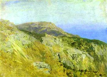 Corniche Southern France Sketch | Isaac Ilich Levitan | oil painting
