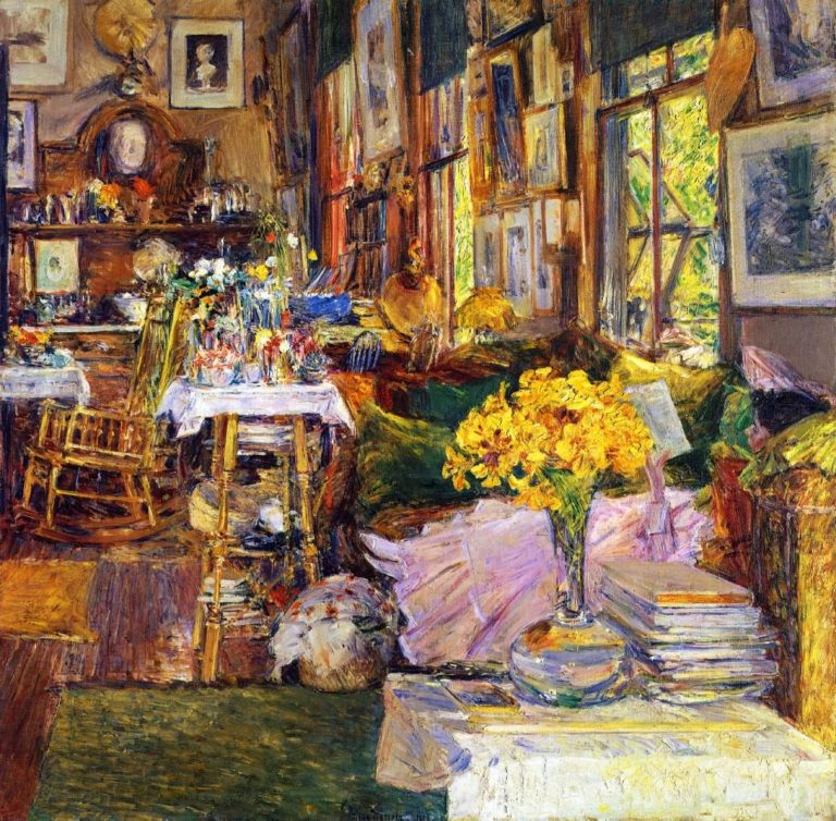 The Room of Flowers | Frederick Childe Hassam | oil painting