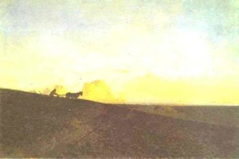 Evening in the Field 1883 | Isaac Ilich Levitan | oil painting