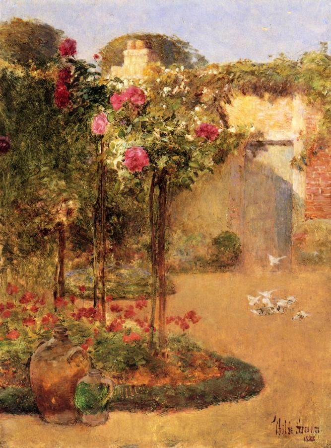 The Rose Garden | Frederick Childe Hassam | oil painting