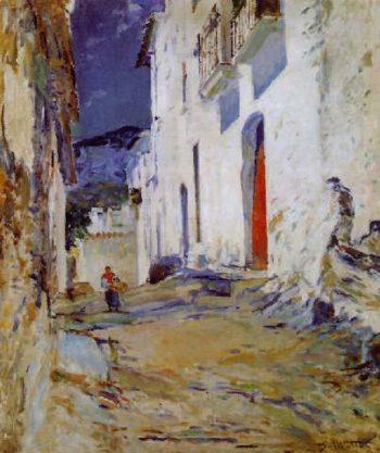Calle de Cadaques | Segundo Matilla Marina | oil painting