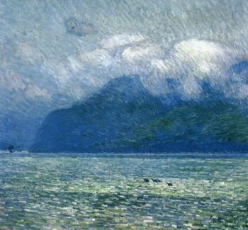 The Silver Veil and the Golden Gate | Frederick Childe Hassam | oil painting
