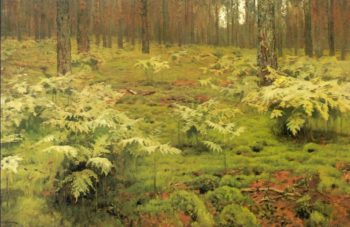Ferns in a forest 1895   Isaac Ilich Levitan   oil painting
