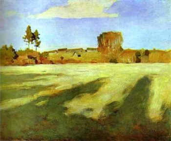 Field after Harvest 1897   Isaac Ilich Levitan   oil painting