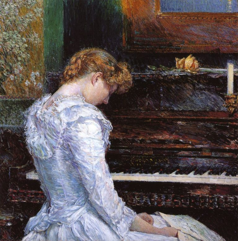 The Sonata   Frederick Childe Hassam   oil painting