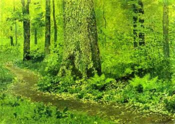 Footpath in a Forest Ferns 1895 | Isaac Ilich Levitan | oil painting