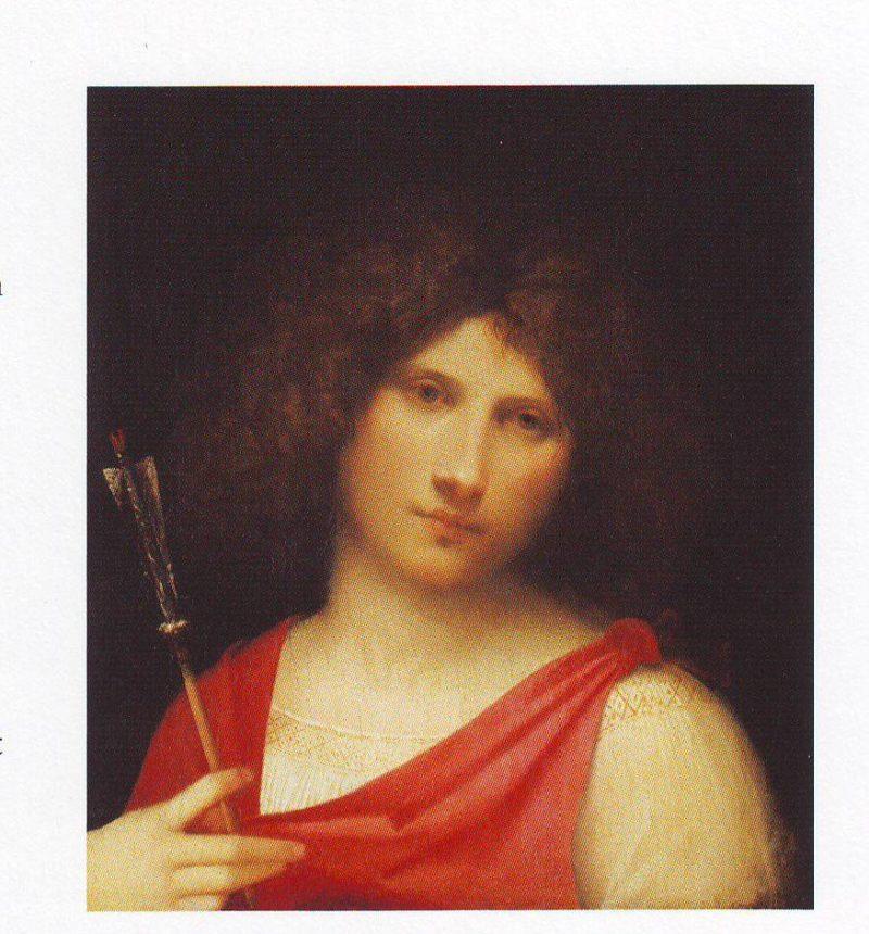 Boy With An Arrow   Giorgione   oil painting