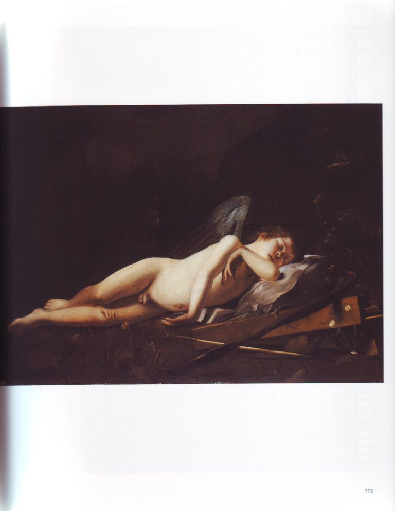 Cupid Sleeping   Giovanni Battista Caracciolo   oil painting
