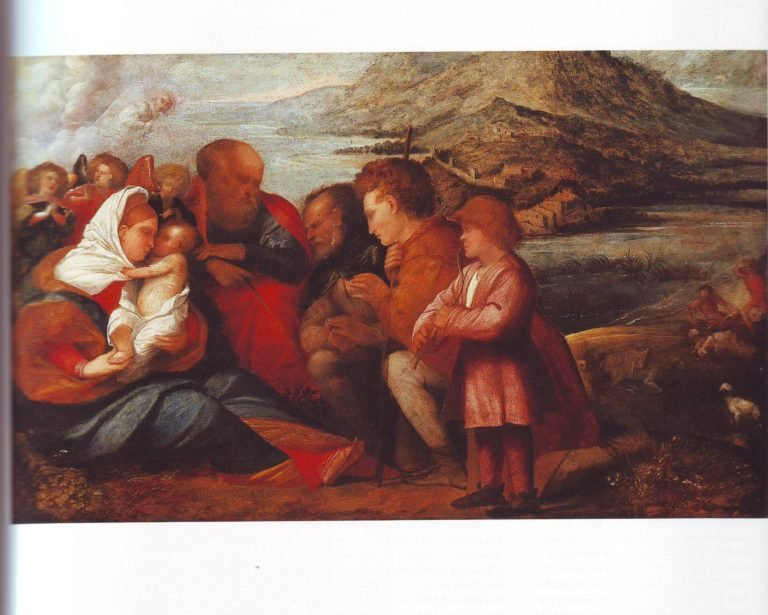 The Adoration Of The Shepherds | Giovanni Cariani | oil painting