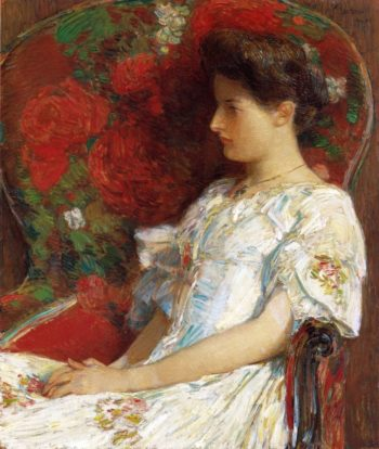 The Victorian Chair | Frederick Childe Hassam | oil painting