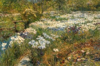 The Water Garden | Frederick Childe Hassam | oil painting